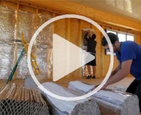 Isolation d'une toiture et murs intérieurs d'un bâtiment en ossature bois avec HYBRIS à DIJON (21)