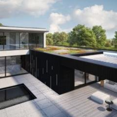 Revêtement unique pour l'intérieur, l'extérieur, le jardin et la maison en un style uniforme