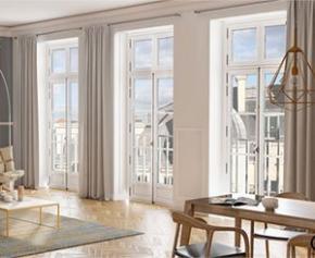 Fenêtres bois SY LE® style Louvre, dans la pure tradition Haussmannienne