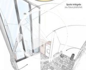 Le plan parfait : Salle de bains de 7m² dans les combles