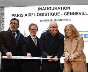 Vailog & Ikea inaugurent Paris Air2 Logistique, plate-forme de distribution urbaine à...