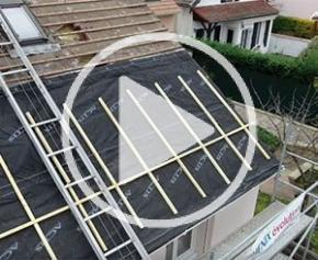 Isolation d'une toiture par l'extérieur d'une maison Phénix dans les Yvelines avec Triso-Toiture