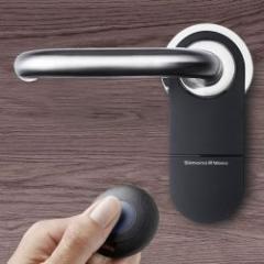 Béquille électronique avec contrôle d'accès par carte ou transpondeur
