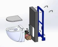 Broyeur intégré W40SP Silence Box, un système esthétique et prêt à poser sur tout type de mur