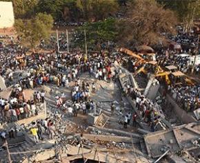 L'effondrement d'un immeuble en construction en Inde fait au moins 11 morts