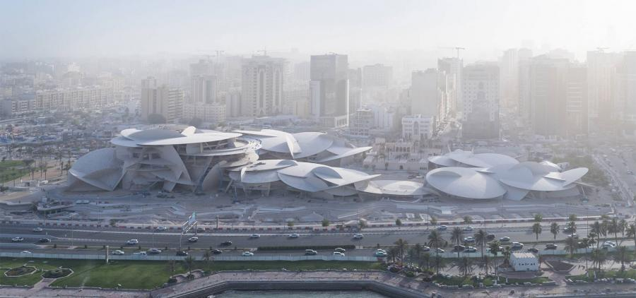 Ouverture du Musée national du Qatar conçu en forme de rose des sables par Jean Nouvel