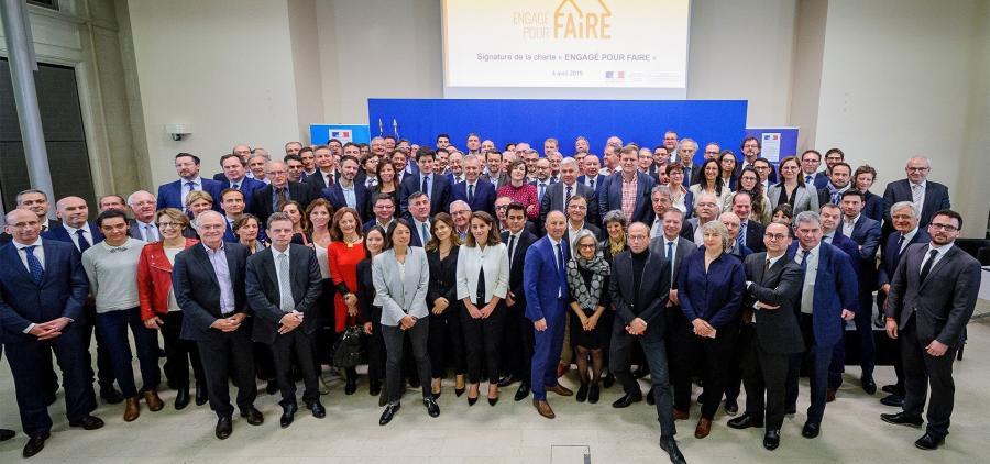 Signature de la Charte « Engagé pour FAIRE » par 137 acteurs du bâtiment