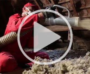 Isolation des combles perdus avec la laine à souffler JETROCK 2
