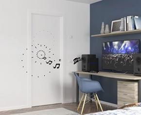 Gain de place et confort acoustique avec la porte à galandage Unique 43 dB