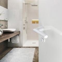 Poignée de porte avec mini-rosace - design minimaliste