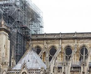 """Notre-Dame : début du démontage de l'échafaudage """"d'ici un mois"""""""