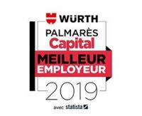 Würth France meilleur employeur 2019 selon le Palmarès Capital