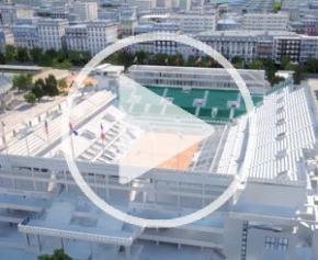 Travaux de modernisation du stade Roland Garros en BIM