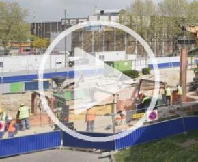 Focus sur les travaux préparatoires avant la construction de la gare Sevran Beaudottes