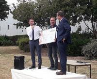 Lorenove remet un chèque de 16.696 euros à l'association Neuf de Cœur