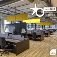 Baffle acoustique pour réduire le bruit des espaces de travail ou de détente