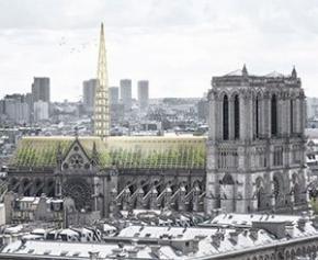 Jardins suspendus et flèches en verre, les projets pour Notre-Dame...