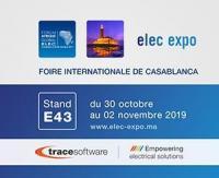 Trace Software participe au Salon Elec Expo à Casablanca au Maroc
