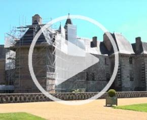 Le chantier du château de Carrouges par la start-up Studio Sherlock