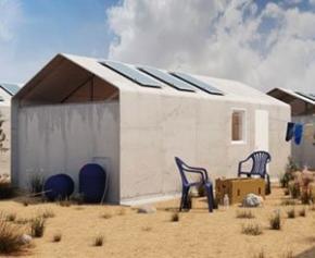Un abri durable pour les réfugiés à partir de matériaux révolutionnaires