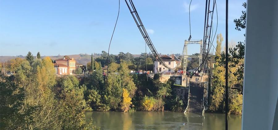 Après l'effondrement du pont en Haute-Garonne, le poids du camion en question