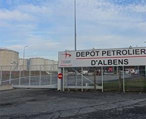 Levée du blocage du dernier dépôt pétrolier de l'ouest, à Lorient