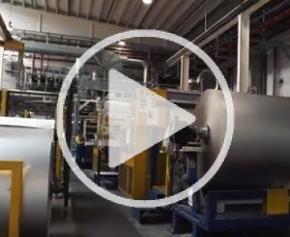 Lignes de production de l'usine Unilin Insulation à Desselgem