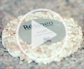 Revêtement en résine et granulats de marbre Résineo