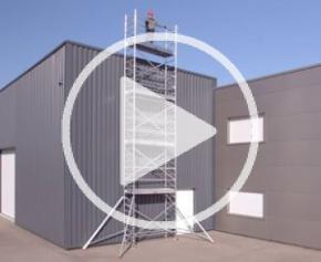 Échafaudage roulant aluminium plateau 2,00 m