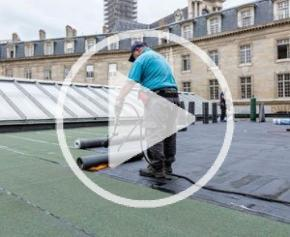 Wateroof de Siplast : étanchéité et rétention d'eau de pluie pour toitures-terrasses