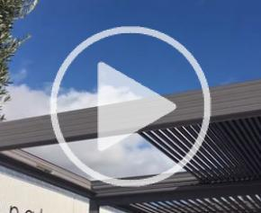 Pergola rétractable en aluminium Wallis&Outdoor®