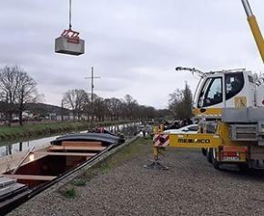 Expérimentation du fret fluvial pour l'évacuation et l'apport de matériaux