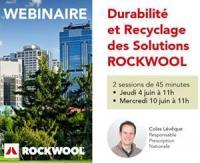 """Webinaire """"Durabilité et Recyclage des Solutions Rockwool"""" les 4 & 10 juin 2020"""