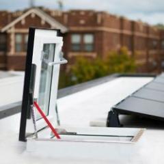 Sortie pour toit plat thermo-isolante