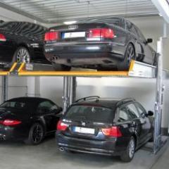 Parking mécanisé sans fosse pour superposer deux véhicules