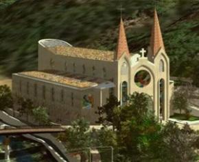 Le chantier d'une église controversée dans l'Ardèche, suspendu en partie pour...