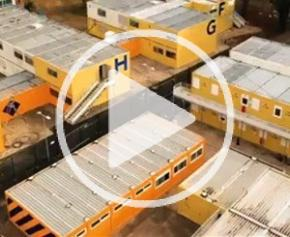 5.000 m² de bâtiments modulaires reconditionnés pour le centre d'hébergement d'urgence de Clichy (92)