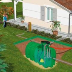Cuve pour le stockage et la rétention de l'eau de pluie