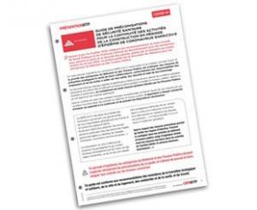Nouvelle mise à jour du guide de préconisations de sécurité sanitaire de l'OPPBTP