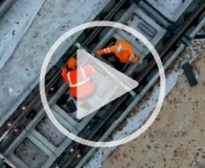 Le chantier du Tram T13 Express