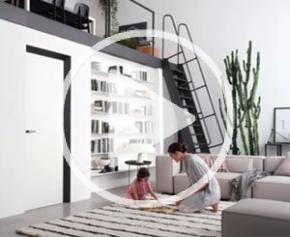 Eclisse 40 : huisserie invisible et architecturale