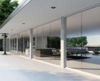 Line Glass, le nouveau système de fermeture avec verre coulissant de Bat Group