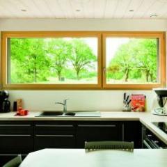 Fenêtre et porte-fenêtre extérieur alu et intérieur bois