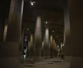 """Le """"Parthénon"""" souterrain qui protège Tokyo des inondations"""