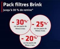 Promotion sur les filtres de la marque Brink