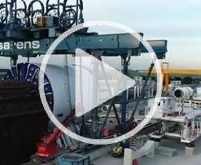 Préparation du tunnelier Florence pour le chantier du Puits Flandres