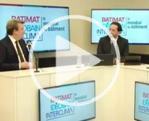 Olivier Salleron, Président de la FFB, s'exprime lors de la conférence de presse Batimat