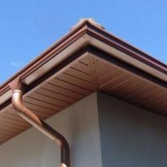 Lacquered aluminum soffit / paneling