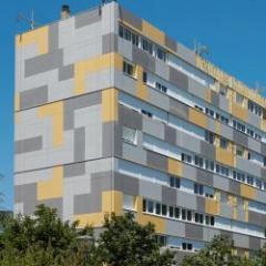 Fiber cement facade panel