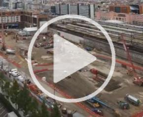 Rétrospective 2020 des travaux des chantiers du Pôle d'Échanges Multimodal de la Part-Dieu à Lyon